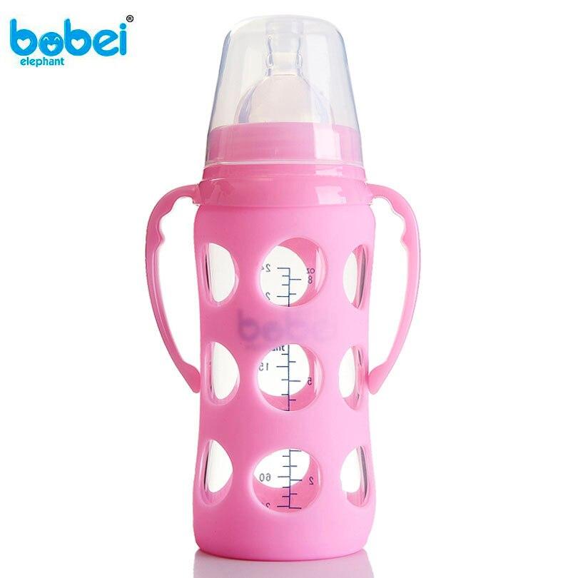 Mutter & Kinder 240 Ml Baby Silikon Pp Milchflasche Breite Mund Einstellen Wasser Tasse Hand Halter Bruchsicher Milchflaschen Weihnachten Geschenk StraßEnpreis