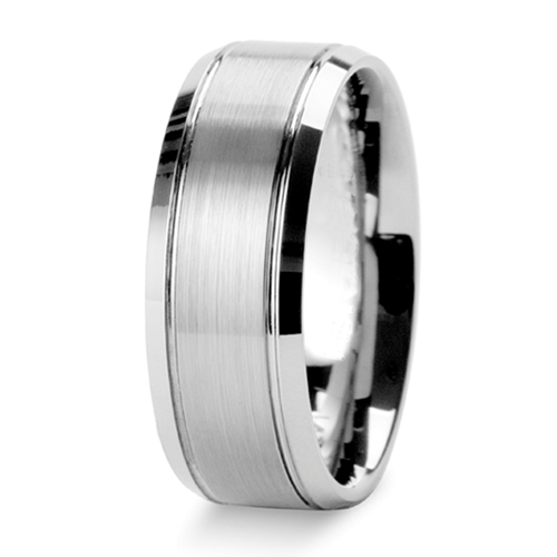 Tailor Made 8mm Bevel Edge Titanium Ring Groove Wedding Band Size 3 18