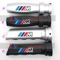 1 unids Aluminio Freno Mtech M3 Manija del freno de mano freno de Mano Del Coche de Plata Negro Styling Emblema