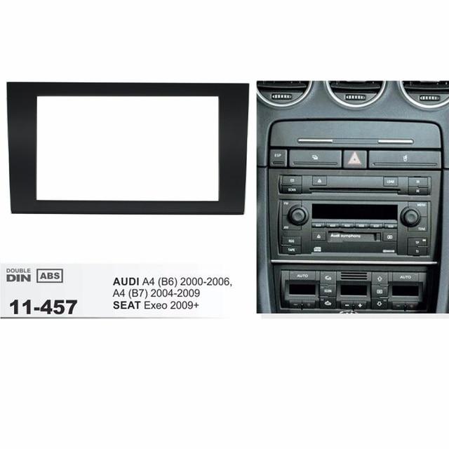 Audi Plate Frame >> 11 457 Car 2 Din Fascia Panel Plate Frame For Audi A4 B6 A4 B7