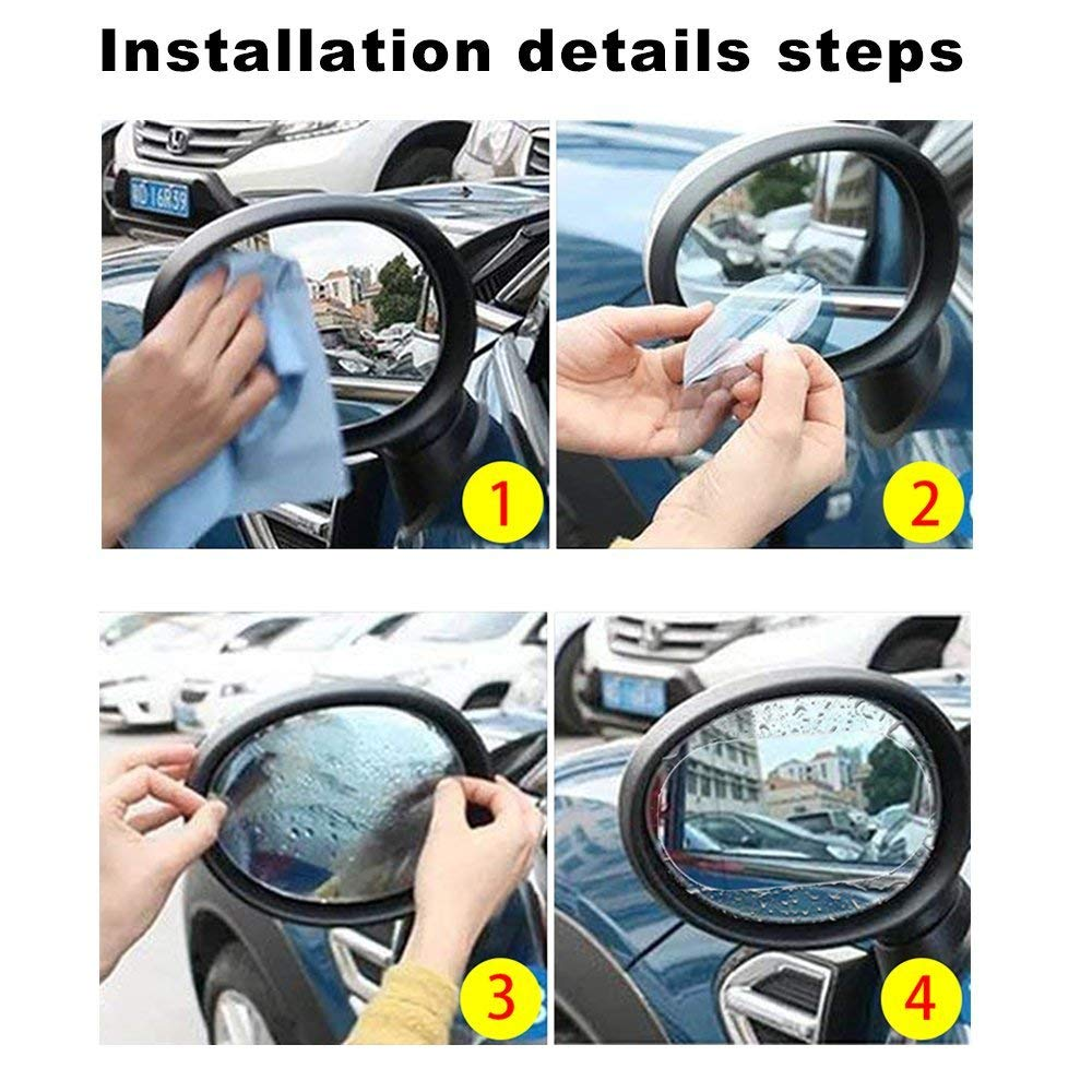 Image 5 - Car Rainproof Rearview Mirror Sticker Flim Anti fog Waterproof Car Mirror Window Clear Replacement-in Car Stickers from Automobiles & Motorcycles