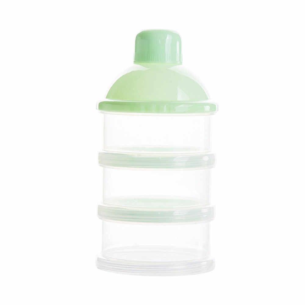 ขายร้อนแบบพกพาเด็กขวดกล่องนมผงคอนเทนเนอร์ 3 ชั้นเก็บสูตรให้อาหารปลอดภัย PP biberon mamadeira14CM
