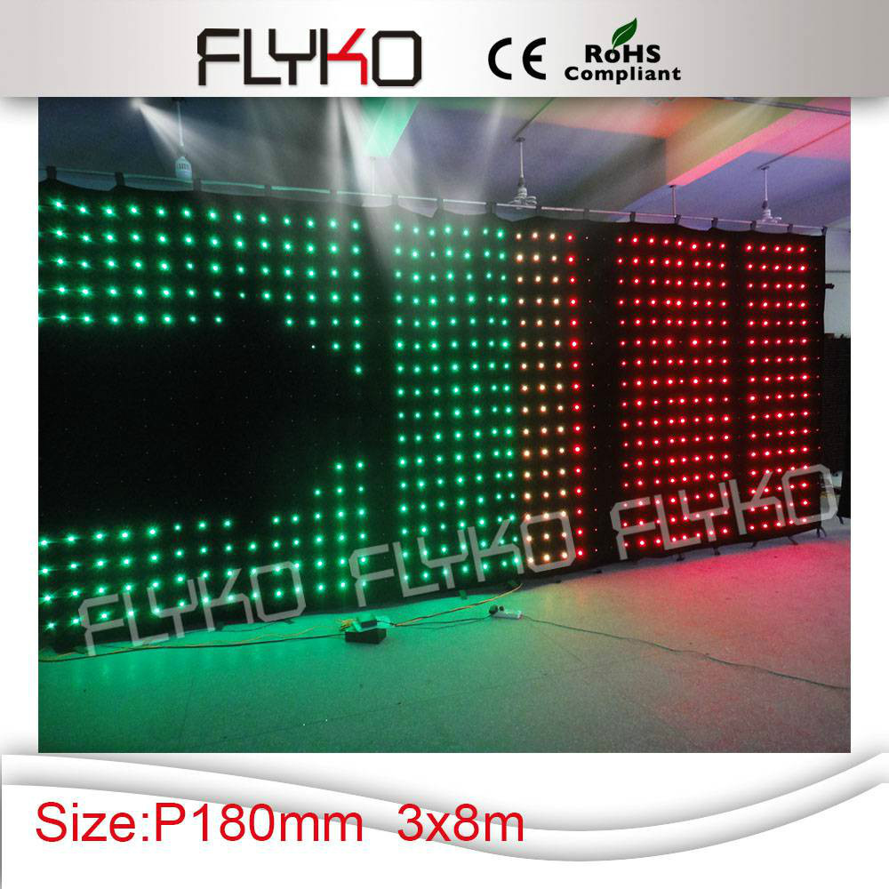 China Video Sex Full Sexy Movies P180mm 3x8m Led Soft Display
