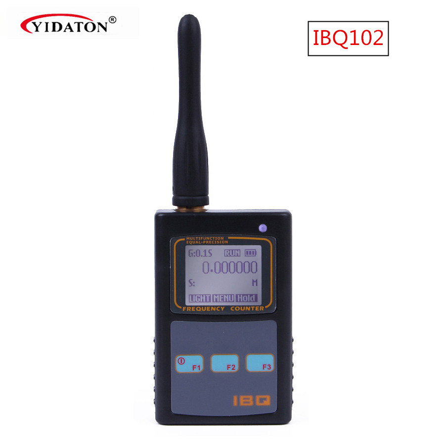 Image 2 - IBQ102 Handheld Digital Frequency Counter Meter Wide Range 10Hz 2.6GHz for Baofeng Yaesu Kenwood Radio Portable Frequency Meter-in Walkie Talkie from Cellphones & Telecommunications