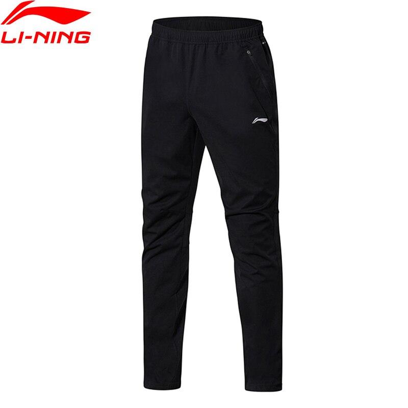 Li-Ning для мужчин бег трикотажные спортивные брюки на доказательство SMART Regular Fit 100% полиэстер Подкладка спортивные брюки AKYN003 MKY353