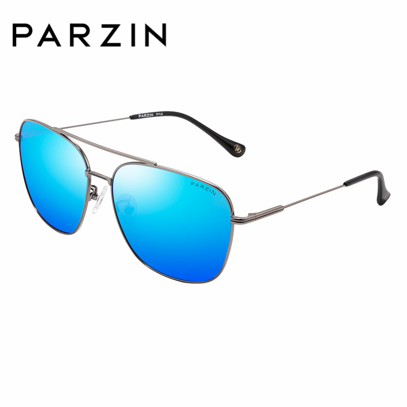 PARZIN Brand Classic Men Polarized Sunglasses Square Alloy Frame Driving Sun Glasses For Male High Quality Glasses PZPOL8098 cnhuain brand design classic pilot driving mirror sun glasses for men points metal frame polarized men s sunglasses male oculos