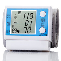 ZOSS Home Automatic Tonometer Health Care Wrist Digital LCD Blood Pressure Monitor Portable Meter For Measureing Heart Rate