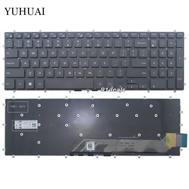 New for Dell Inspiron 15 5565 5567 Gaming 7566 7567 17 5765 5767 keyboard US layout black color