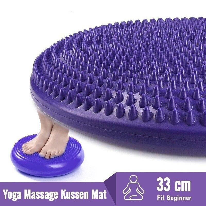 Массажный мяч для пилатеса, йоги, Универсальный спортивный тренажерный зал, воблер, стабильность баланса, дисковая подушка, прочный надувно...