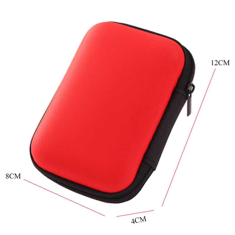 Moda Mini Zipper Fone de Ouvido Fone De Ouvido Cartão SD Caixa de Cores Doces Saco De Armazenamento Chave Carteira Acessórios de Viagem Organizadores Embalagem