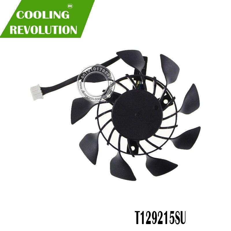 T129215SU 0.5A 85mm 4Pin GTX970 GTX760 GPU VGA Cooler Fan Graphics Card Fan For ASUS GeForce GTX 760 670 970 DC MINI Cooling
