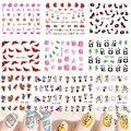 1 hoja de moda precioso 31 Styles etiqueta de transferencia de agua etiquetas del arte del clavo Watermark DIY de la decoración consejos polaco manicura herramientas STZ032-064