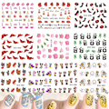 1Sheet Fashion Lovely 31 Styles Water Transfer Sticker Nail Art Decals DIY Watermark Decor Tips Polish Manicure Tools STZ032-064