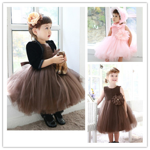 TP 1 Baby Dress Clothes summer sleeveless solid tutu baby girls ...
