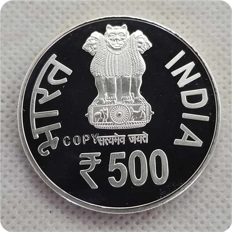 2015 India 500 Rupee (3rd India-AFRICA Forum Summit) copy Koin Koin Peringatan-Replika Koin Medali Koin Koleksi