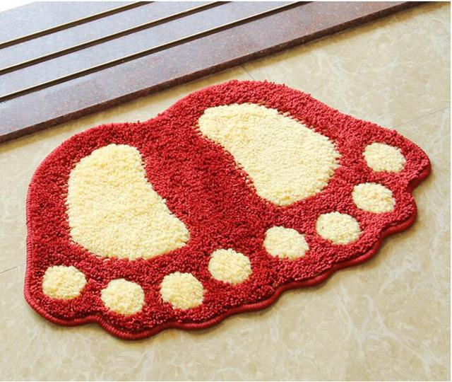 Big Feet Bath Toilet Mat Area Rugs Carpet Doormat Floor