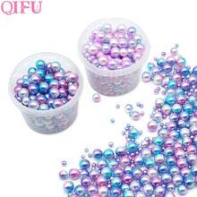 250pcs Plastic Gradient Pearls DIY Wedding Party Supplies Manicure Mermaid Necklace Jewelry Earring Pendant Decor