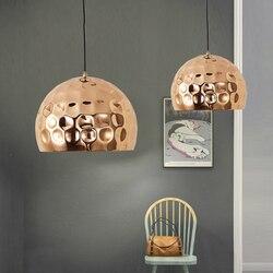 Nowoczesne  minimalistyczne półokrągłe niklowane różowe złoto żelaza pojedyncze lampa wisząca bump projekt dla restauracji dekoracji LED E27 oświetlenie