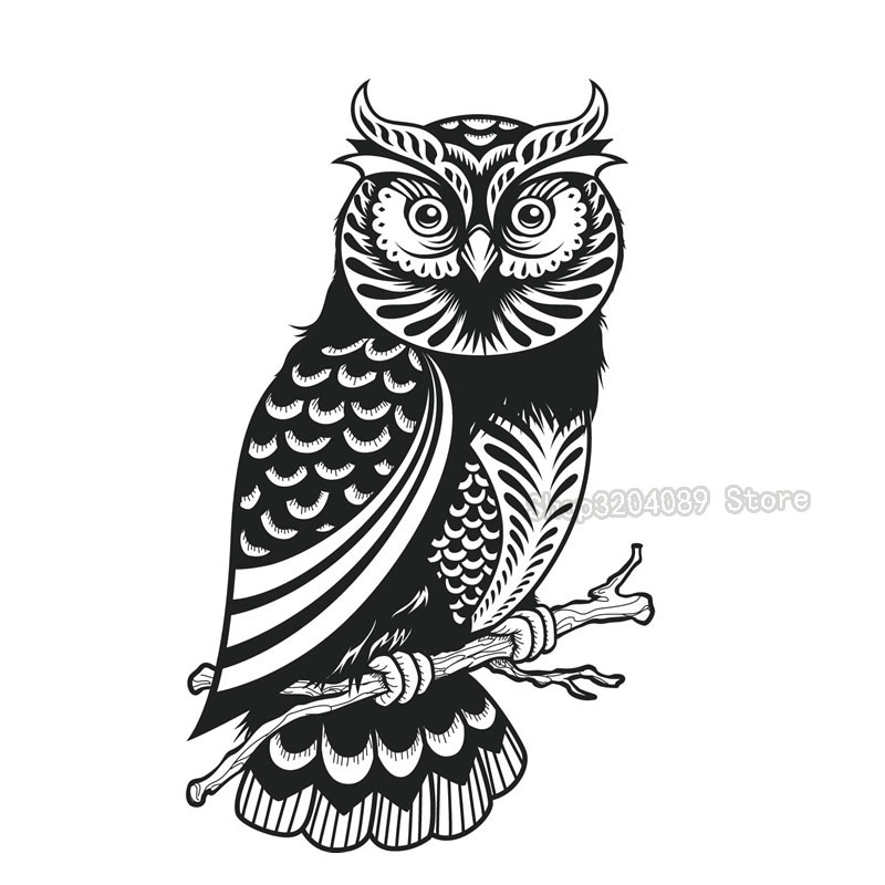 3d Kids Favorite Cute Owl Design Black Wall Stickers Living Room