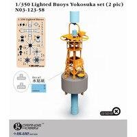 Orange Hobby N03123 1 350 Lighted Buoys Yokosuka Set 2 Pcs Set Assembly Military Miniatures Model