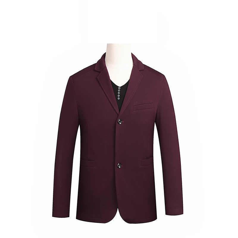新しい到着スーパー大男性若いファッションスーツジャケットシングルブレストカジュアル男性ブレザー高品質プラスサイズl xl-6xl 7xl 8xl