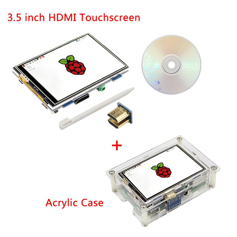 Raspberry Pi 3 LCD 3.5 inch 480*320 HDMI Touch Screen Brightness Adjustable Display with Acrylic Case for Raspberry Pi 3B+ 7 inch raspberry pi 3b lcd display touch screen lcd 1024 600 hdmi tft monitor acrylic case compatible with raspberry pi 3b