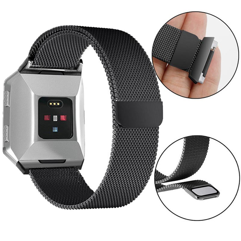 Stainless Metal Watch Strap For Fitbit Ionic Smart Watch Milanese Replaceable Bracelet Band For Fitbit Ionic Accessories Correa
