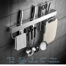 Кухонная полка из нержавеющей стали, инструменты, держатель для посуды, подвесная стойка, кладовая, для организации сковородок, ножевые гаджеты, настенная полка для шкафа