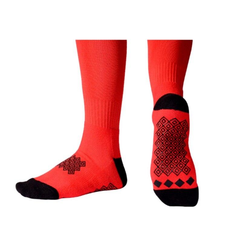 Эпоксидные Нескользящие амортизаторы дышащие полотенца спортивные Чулочно-носочные изделия на открытом воздухе мягкие эластичные влагостойкие спортивные футбольные высокие носки - Цвет: Красный