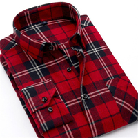 Alimens Flannel Plaid Shirt Men Casual Long Sleeve High Cotton Fashion New 2017 Male Shirt Chemise