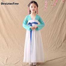 2019 new girls chinese traditional hanfu dress ancient chinese opera tang han costume dynasty child clothing folk dance dress
