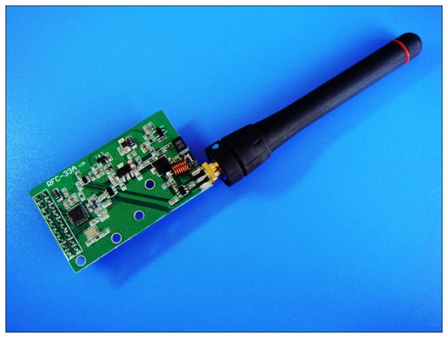 CC1020 wireless transceiver module - maximum transmit power 33dBm-2W