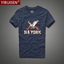 Футболка yiruisen мужская с аппликацией брендовая тенниска коротким