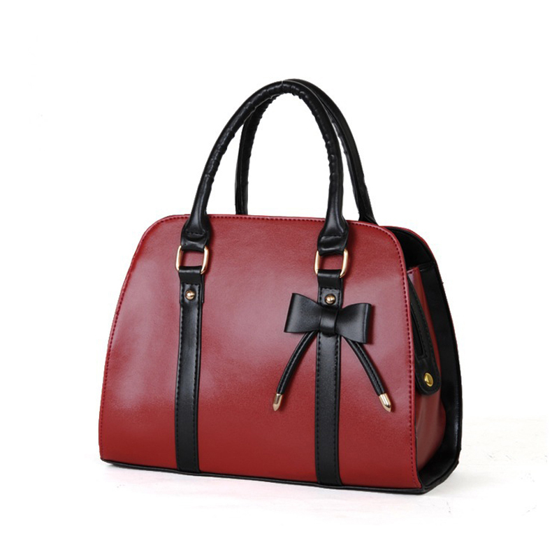 ФОТО 2017 new design !!!Fashion Bow women shoulder bag fashion PU leather women handbag shopping women bag 7 candy color W0137