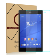 2.5D Edge 9H For Sony Xperia Z3 Tablet PC Tempered Glass Screen Protector Protective Film