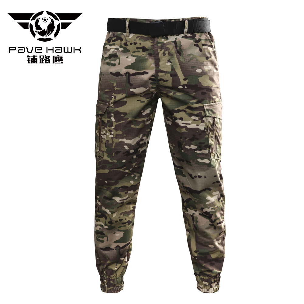 Mens Cotton Straight Trousers ankle-tied outdoor work overalls pocket pants new