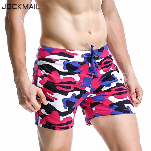 JOCKMAIL Brand Men Jogger Sweatpants Casual Boxers Trunks Men's Activewear Gay Camouflage Beach Shorts Man Short Bottoms Fashion