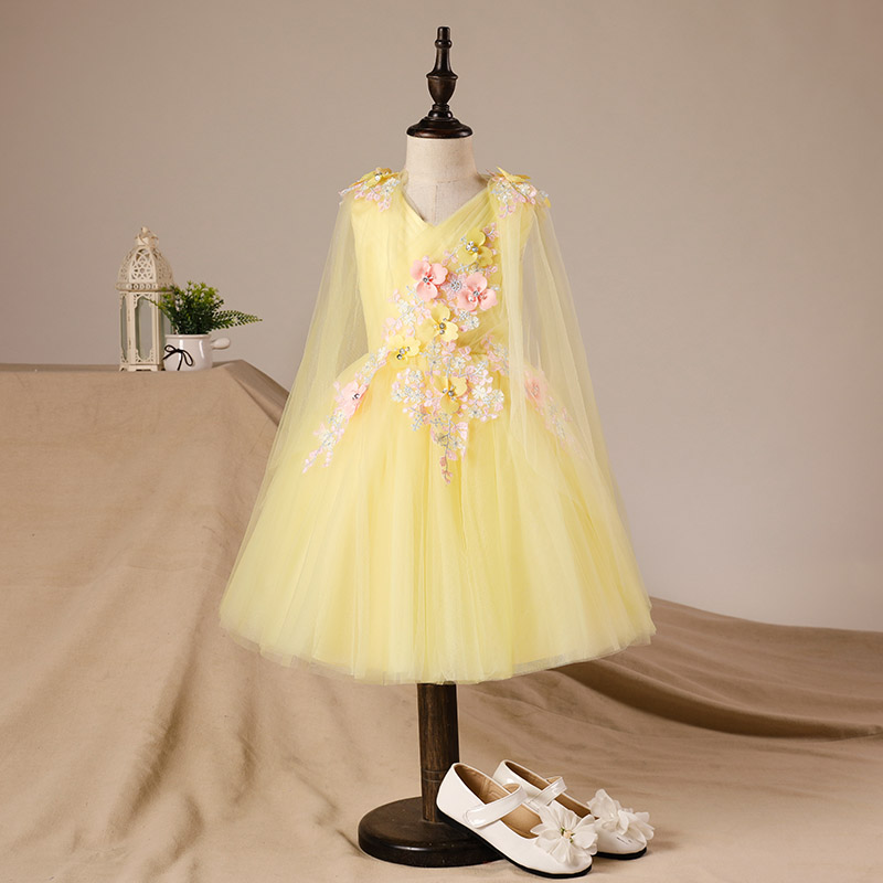 Floral Girls Wedding Party Dresses Ball Gown Clothing Luxury Children Girl s Dress Birthday Party Flower