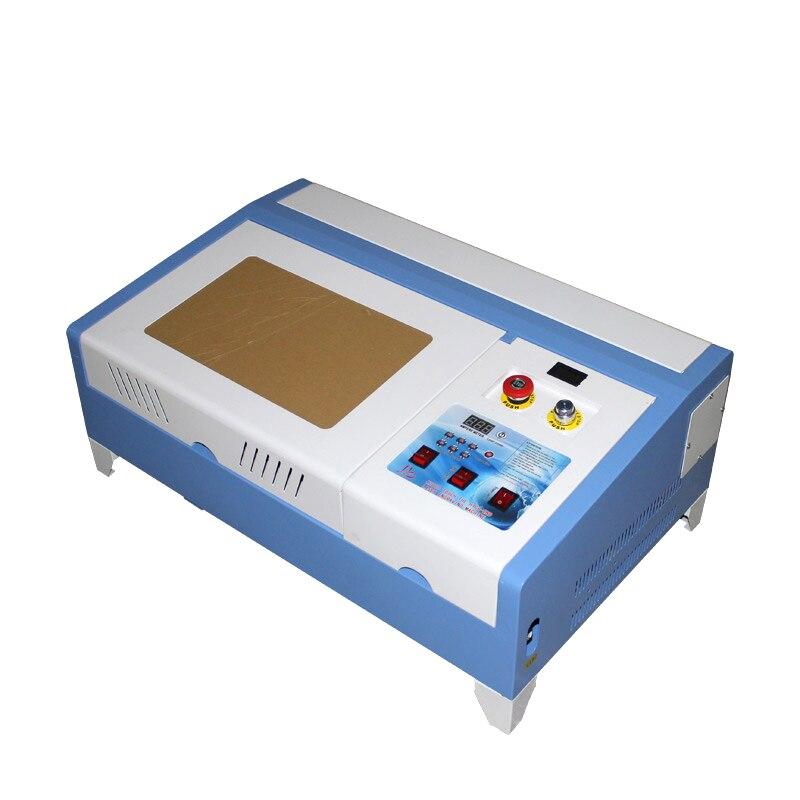 Desktop LY laser 3020 2030 40W CO2 Laser Gravur Maschine mit Digital Funktion und Waben Tabelle High Speed Arbeit größe 30*20