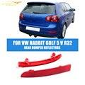 ABS Auto Car Rear Bumper Refletores de Luz Da Lâmpada da Esquerda À Direita apto para volkswagen vw golf 5 v r32 coelho vermelho 06-09