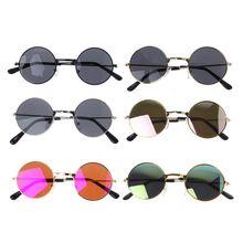 Модные круглые детские очки в оправе для маленьких мальчиков и девочек, очки в оправе, винтажные Детские реквизиты для фотосессии