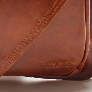 Image 5 - 新しい高品質のヴィンテージカジュアルクレイジー馬革本物の牛革男性の胸のバッグ小さなメッセンジャーマン