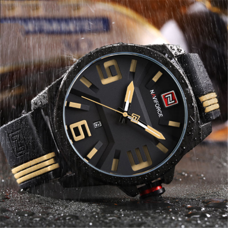 1PC New Watch Fashion and Casual Sport Quartz Watches 5 Color Clearly See Analog Male Clock Hot selling