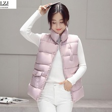 2017 New Brand Women Sleeveless font b Jacket b font Winter Ultralight White Duck Down Vest