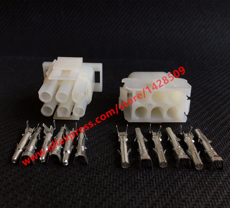 10 Sets 6 Pin Electrical Connector 926307-1 Female And Male Plug For Elevator Auto image