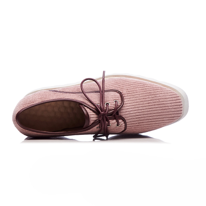 Genuine Leather Wedges Office Shoes Platform Women High Heels Wedge Walking High Heel Shoes Plus Size 33 - 40 41 42 43