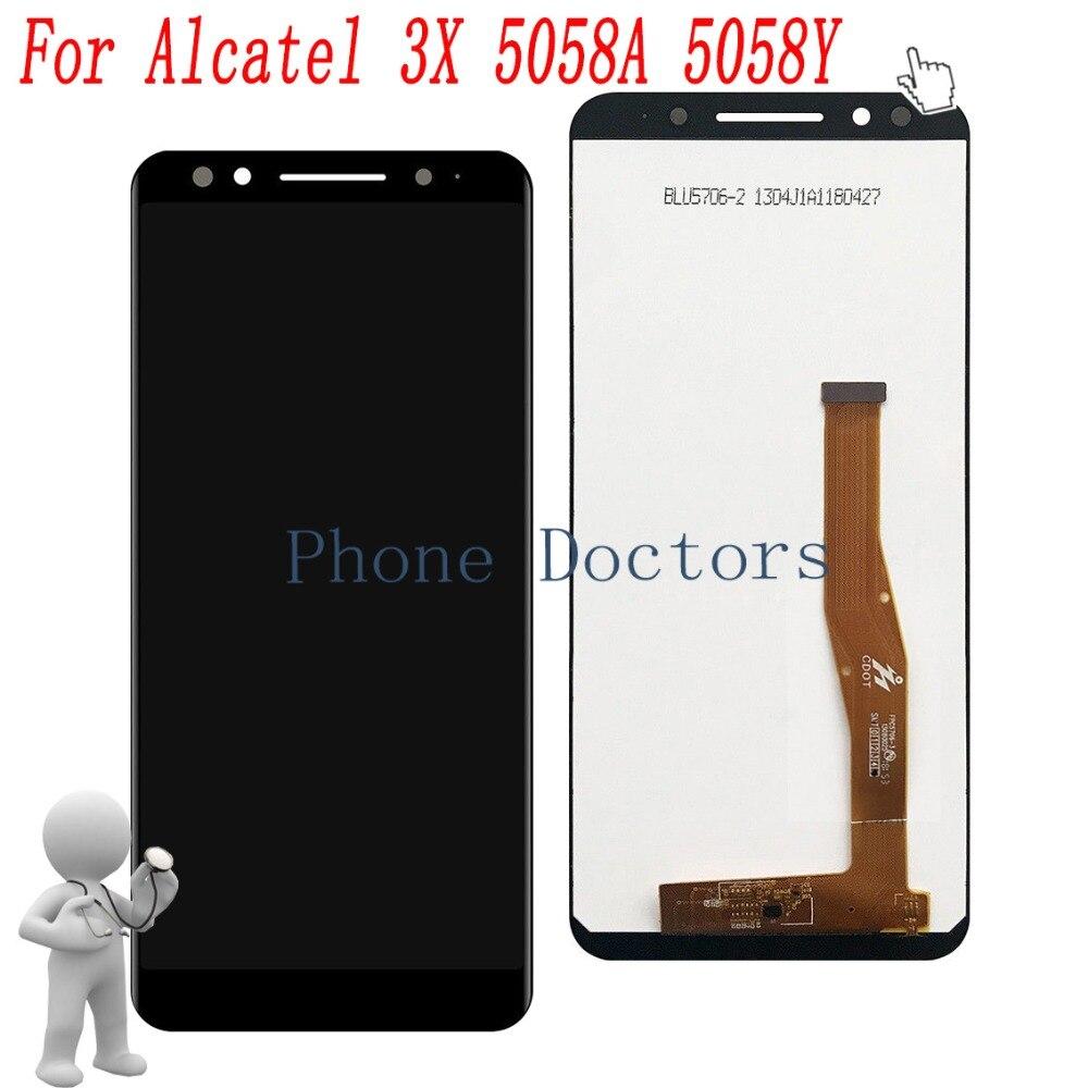 5,7 для Alcatel 5058A цельный ЖК-дисплей + сенсорный экран дигитайзер в сборе для Alcatel 3X5058 5058A 5058Y (TCL A3A Plus)