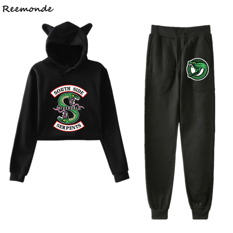 South Side Serpents Riverdale Southside Hoodie Sweatshirts Cosplay Costume Riverdale Jughead T Shirt Pants Sport Suit Girl Women