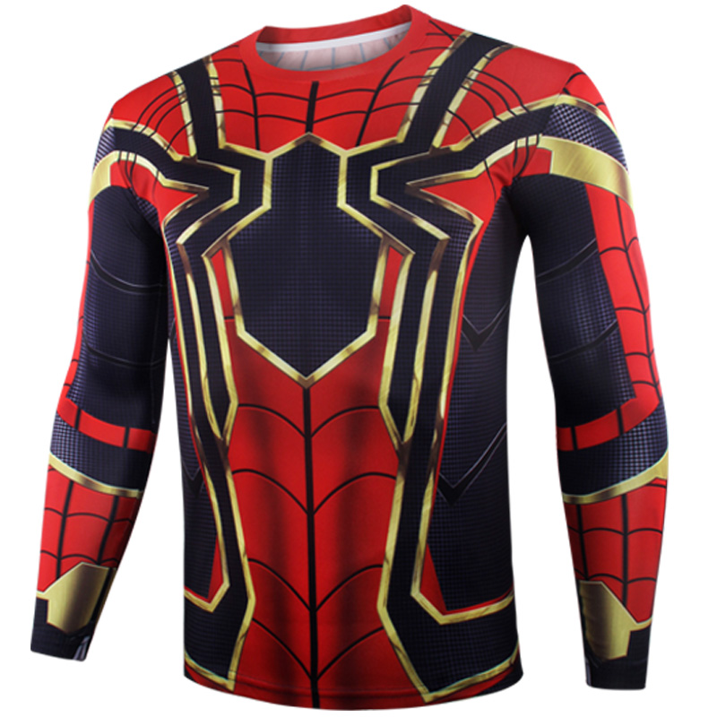 1f3e7ae53ec114 ... Spiderman Avengers: Infinity War 3D Printed Compression Training Shirt  [Long Sleeve / Short Sleeve ...