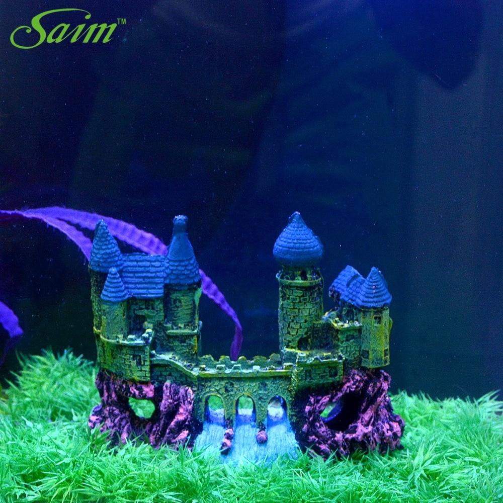 Fish tank aquarium castle hill - Stone Artificial Castle Aquarium Decor Fish Tank Aquarium Decoration Aquarium Decorative Ornaments Accessories Supplies China